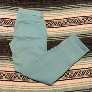 Ann Taylor turquoise jeans